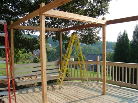 how to make pergola roof how to build a backyard pergola hgtv