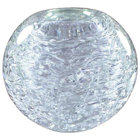 spherical glass heavy glass spherical vase by frantisek vizner for sale at