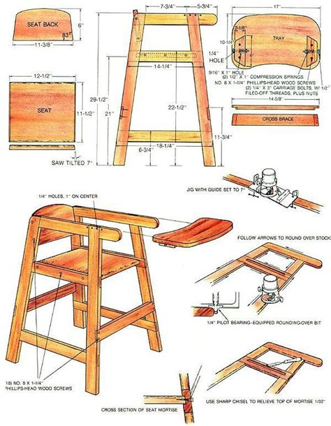high chair woodworking plans bench workout plan modifying woodworking tools