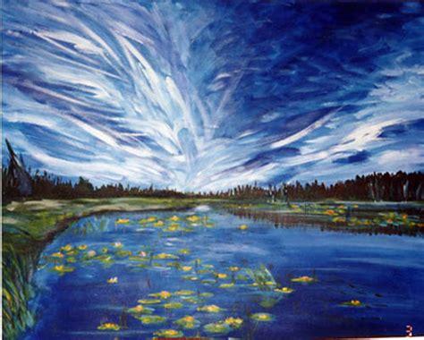 acrylic painting a sky blue studios