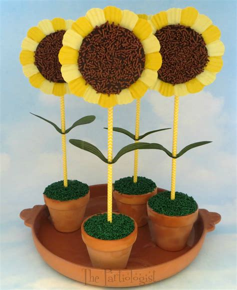 sunflower crafts for sunflower brownies and family crafts