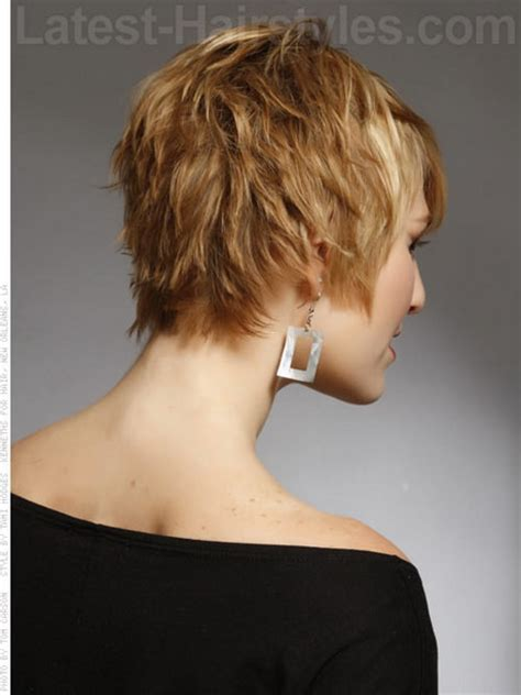 hair with shag back view short haircuts front and back view