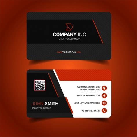 make visiting card business card design vector free