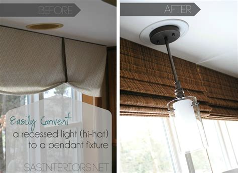 changing recessed lighting to pendant lighting easily change a recessed light to a decorative hanging