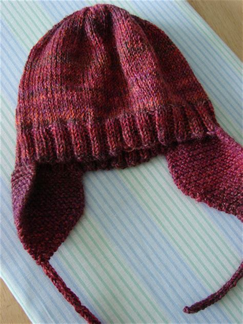 knit hat with ear flaps free patterns earflap hat pattern knit browse patterns
