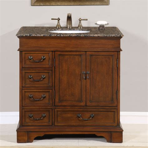 36 perfecta pa 135 bathroom vanity single sink cabinet chestnut finish granite
