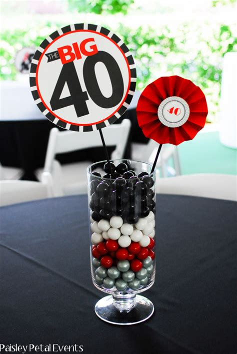 centerpieces ideas for birthday 40th birthday centerpieces on