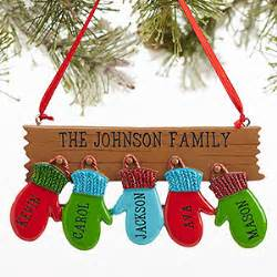 personalized ornaments clearance personalized family ornament with 5 names warm mitten