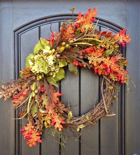 decorating wreaths for creative fall decorating ideas for a grapevine wreath