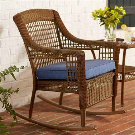 wicker rocker patio furniture hton bay brown all weather wicker patio