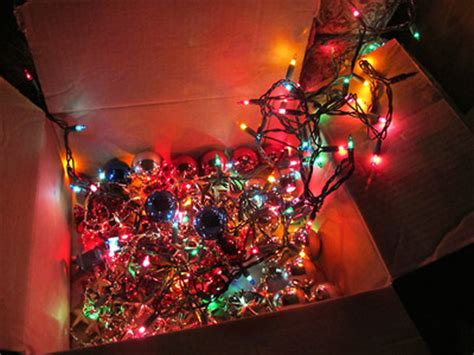 box for tree lights box of lights and ornaments pictures photos