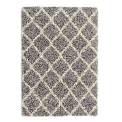7 ft area rugs ottomanson ultimate shaggy contemporary moroccan trellis