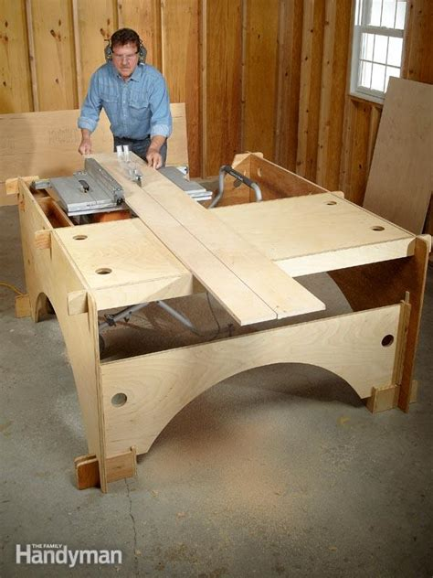 family woodworking diy table saw table the family handyman