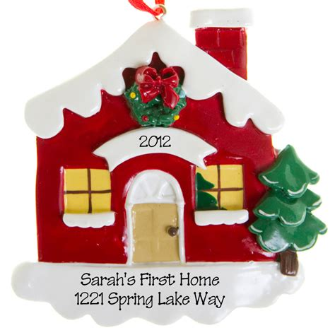 house ornament personalized tree ornament new home decorating