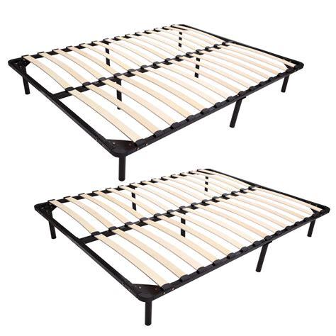 expandable bed frame 74 quot 79 quot size wood slat platform bed frame