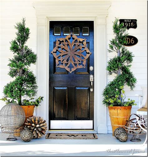 how to decorate your front door for trash to treasure almost door decorating