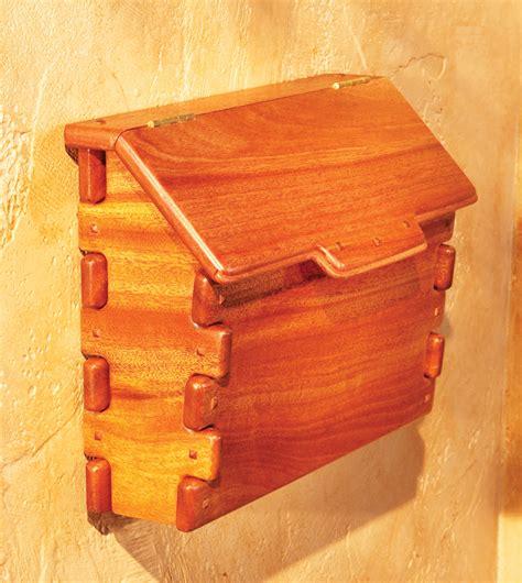 new woodworker greene and greene mailbox popular woodworking magazine