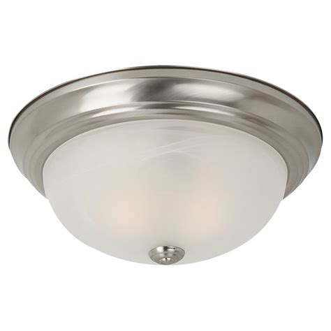 lowes ceiling light shop sea gull lighting 13 in w brushed nickel ceiling