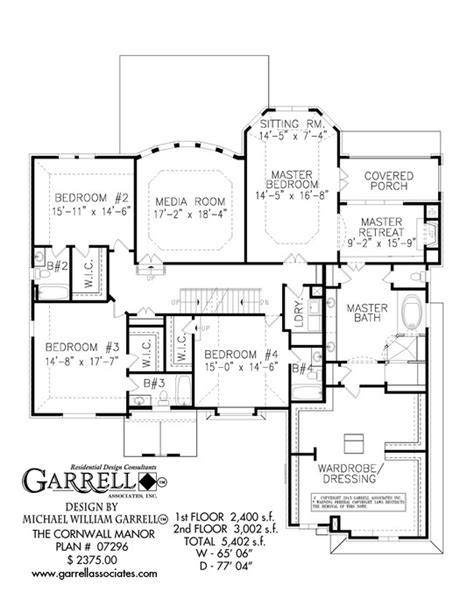 manor house floor plan cornwall manor house plan house plans by garrell
