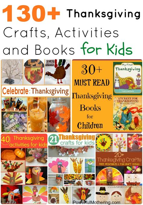 craft book for 130 thanksgiving crafts activities and books for