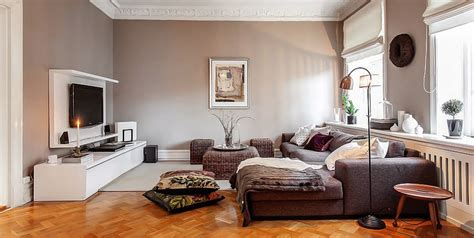 swedish homes interiors charming swedish style apartment in cappuccino color