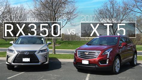 Cadillac Vs Lexus by 2017 Cadillac Xt5 Vs 2017 Lexus Rx350 Model Comparison