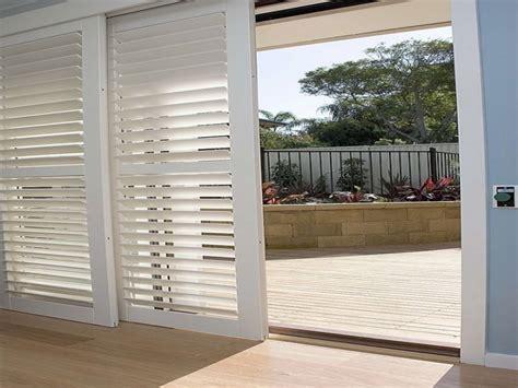 glass door shutters shutters for sliding glass doors plantation shutters on