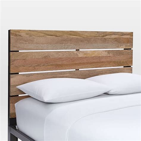 Box Frame Bed Frame Industrial Headboard Box Frame Bed Frame West Elm