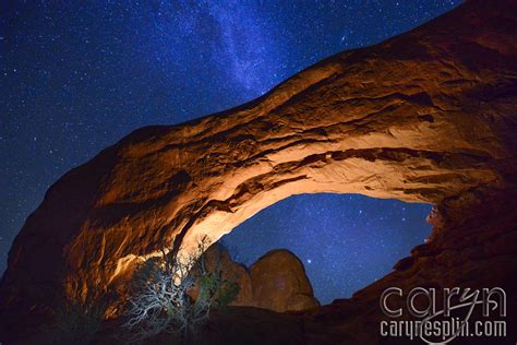paint nite ut arches national park light painting way caryn
