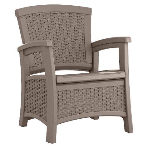 suncast patio furniture suncast elements resin patio storage club chair ebay