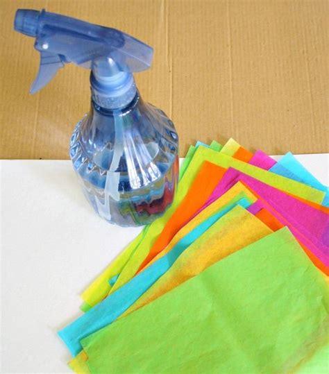 tissue paper crafts for preschoolers tissue paper