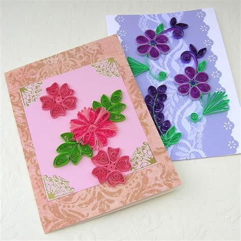 paper greeting cards sale quilling greeting cards paper quilled sale set of two