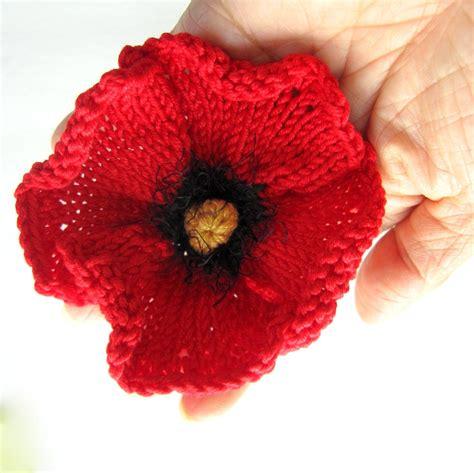 knitting pattern for a poppy flower knit flower instant pdf pattern poppy flower
