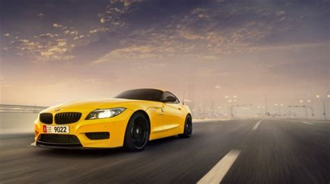 Car Sunset Wallpaper by Bmw Z4 Yellow Car Sunset Wallpapers Hd Free