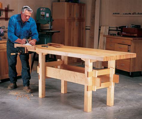 popular woodworking workbench aw 3 6 14 wedged base workbench popular