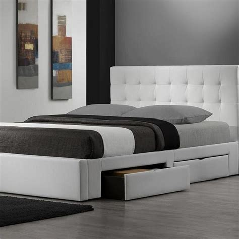 king white bed frame king platform bed with storage drawers size modern beds