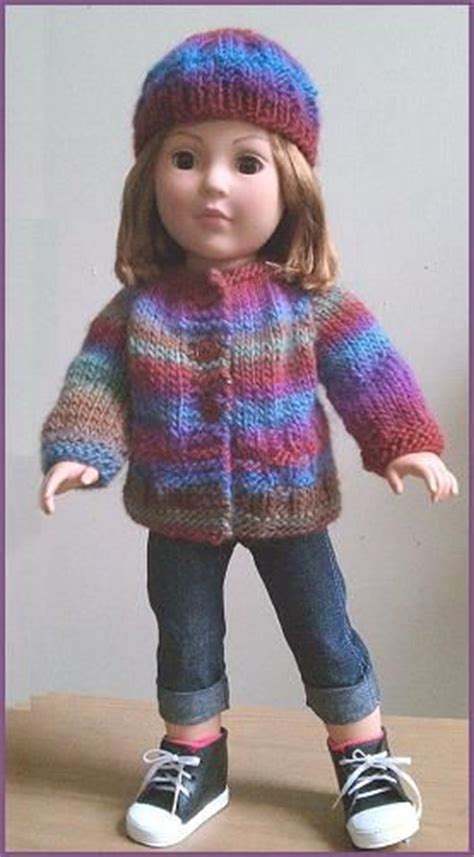 free knitting patterns for dolls hats free doll knitting pattern for 18 quot doll sweater hat