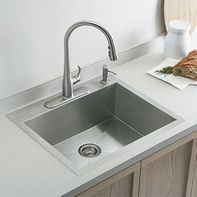 kitchen steel sinks selecting the ideal kitchen sink at the home depot