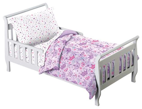 toddler bedding set for princess crown purple 4 toddler bedding set