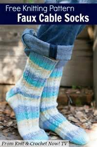 knit and crochet now episodes this faux cable socks free knitting pattern