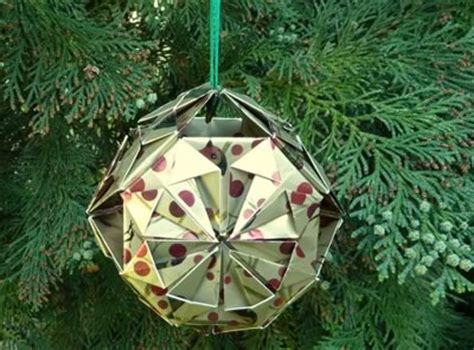 easy to make tree origami ornaments to make with photo