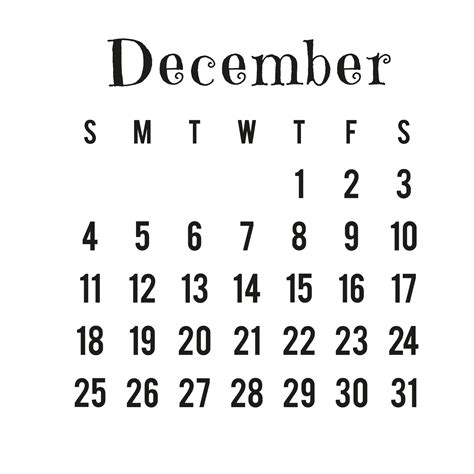 december 2016 calendar png