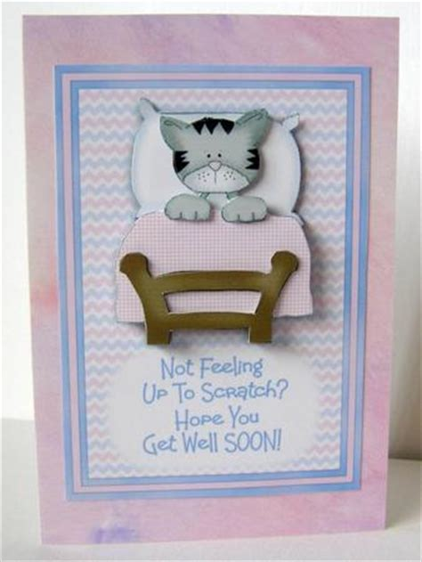 make get well cards not feeling up to scratch get well decoupaged card