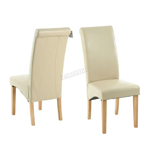 leather high back dining chairs faux leather dining chairs roll top scroll high back wood
