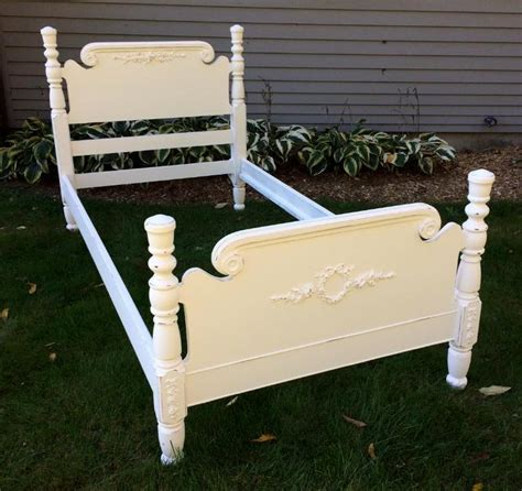 white shabby chic beds shabby chic white painted bed