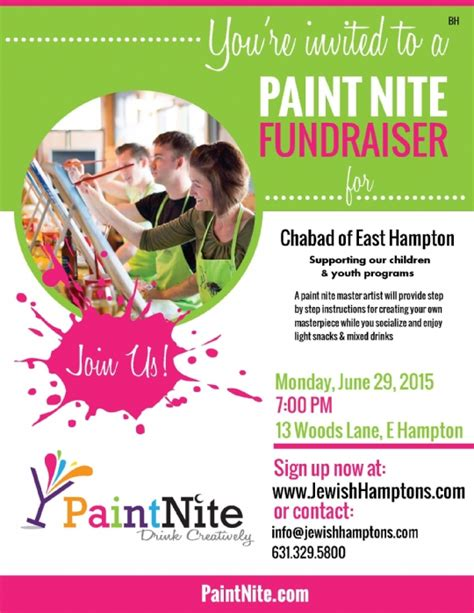 paint nite nyc schedule paint nite fundraiser a of in support of