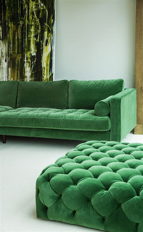 green sectional sofa best 25 green ottoman ideas on green