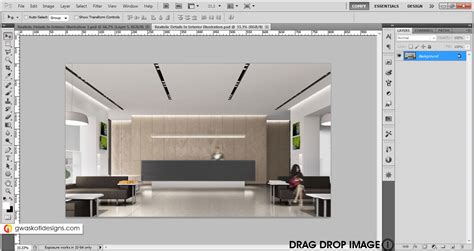 realistic interior design realistic details in interior rendering in photoshop