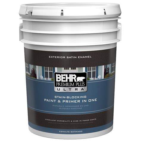 home depot paint color sovereign behr premium plus ultra 5 gal ultra white satin