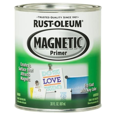 chalkboard paint rustoleum colors rust oleum specialty 30 oz magnetic primer kit 247596